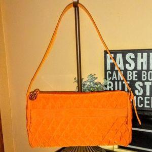 Vera Bradley Solid Orange Quilted Shoulder Bag